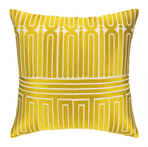 Trina Turk Garden Maze Pillow - Citron Yellow -SOLD OUT