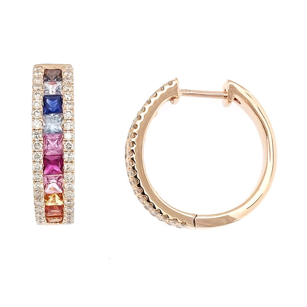 Multi Color Mini Hoop Earrings