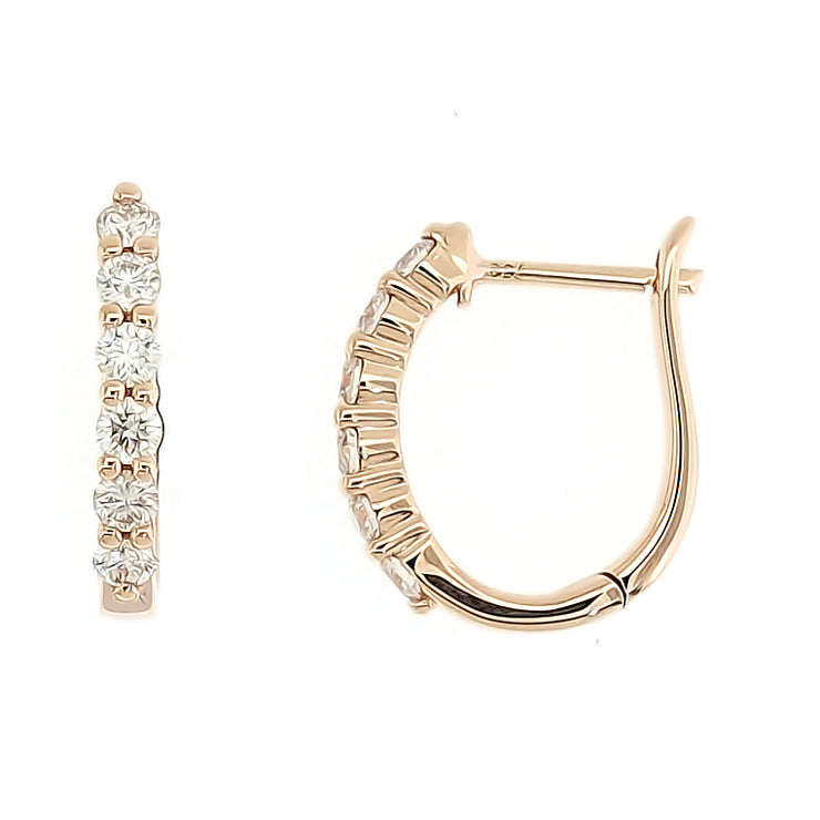 Multi Diamond Mini Hoops