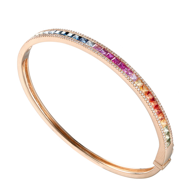Multi Color Diamond Bangle