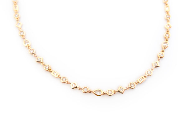 Multi Diamond Choker