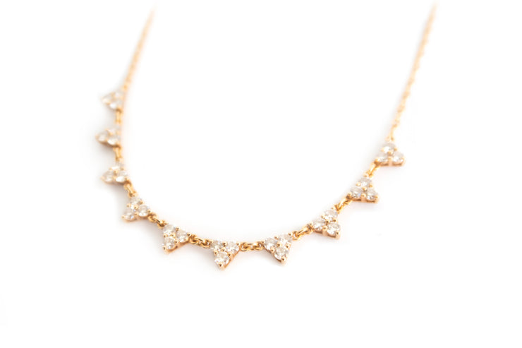 Geometric Diamond Necklace