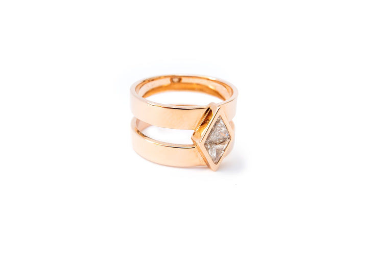 Lozenge Cut Diamond Ring