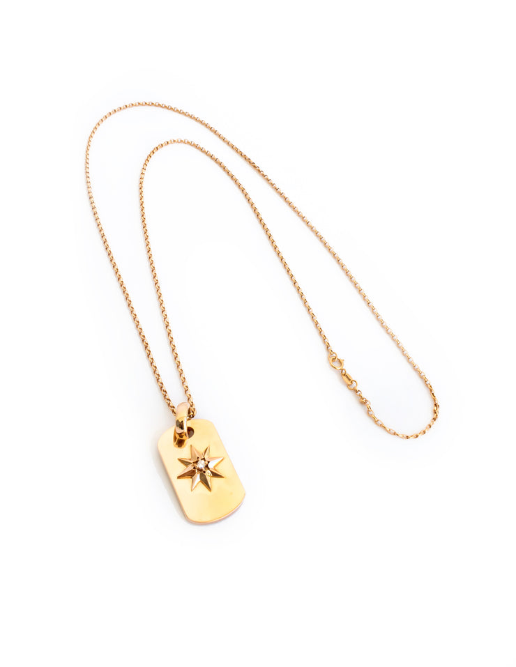 Brilliant Star Diamond Pendant Chain