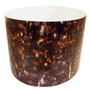 Drum-Wrap Reflexions Burl Amber Depth From 15'' to 24''.