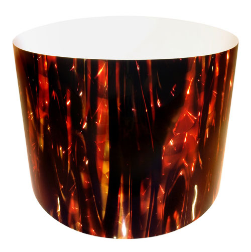 Drum-Wrap Reflexions Buzzing Flames Red Gold Depth From 15'' to 24''.