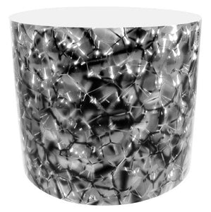 Drum-Wrap Reflexions Cracked Ice Silver Depth From 3'' to 14''.