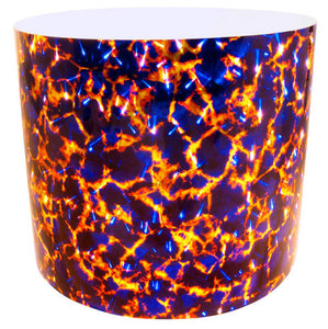 Drum-Wrap Reflexions Magma Blue Yellow Depth From 3'' to 14''.