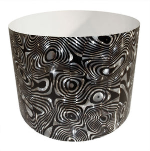 Drum-Wrap Reflexions Psychedellic Zebra Silver Depth From 3'' to 14''.