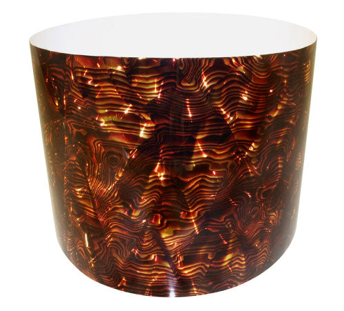 Drum-Wrap Reflexions Strata Red Gold Depth From 15'' to 24''.