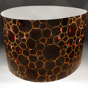 Drum-Wrap Reflexions Bubbles Copper Depth From 15'' to 24''.