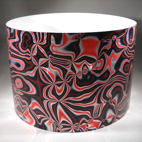 Drum-Wrap Galvanized Alchemy Red Silver Depth From 3'' to 14''.