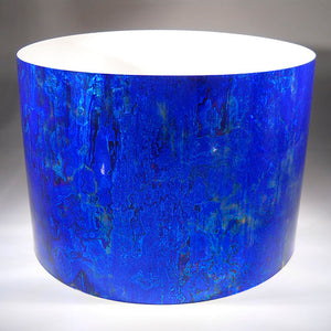 Drum-Wrap Galvanized Antique Oxid Blue Depth From 15'' to 24''.