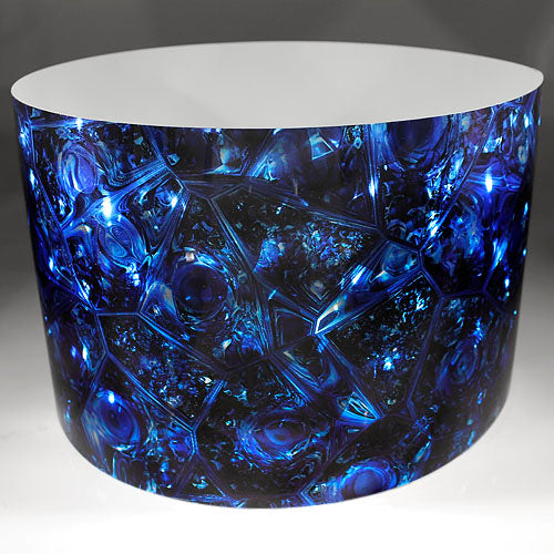 Drum-Wrap Reflexions Gold Mine Blue Depth From 15'' to 24''.