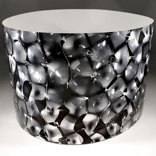 Drum-Wrap Reflexions Space Odyssey Silver Depth From 3'' to 14''.