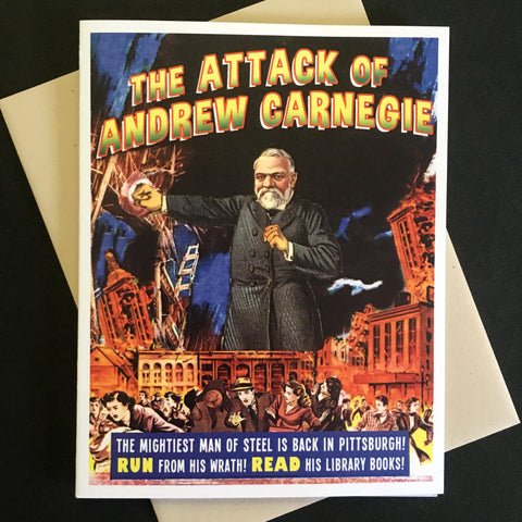 Attack of Andrew Carnegie Greeting Card