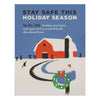 Stay Safe Zombies Holiday Card