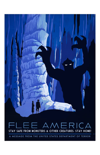 Flee America: Cave Monsters