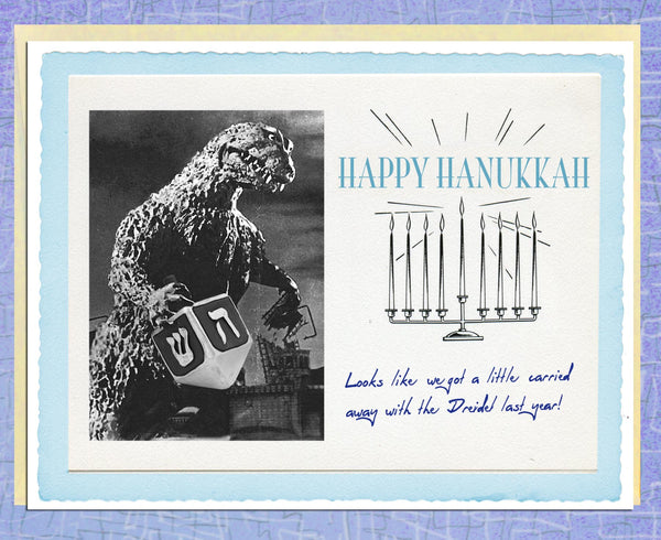 Vintage Holiday Cards: Carried Away with the Dreidel