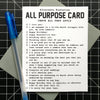 All Purpose Card