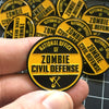 Zombie Civil Defense Enamel Pin