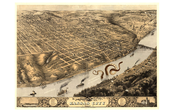 Kansas City in 1889