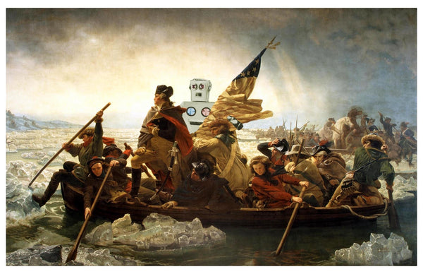 Washington and Medwin Crossing the Delaware