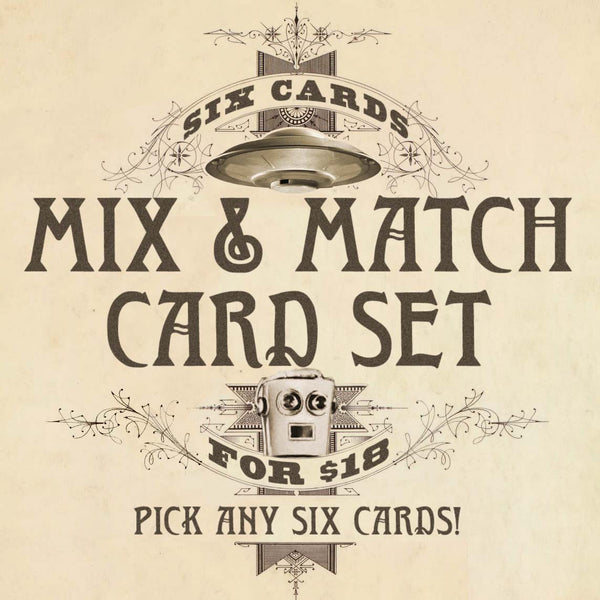 Mix & Match Greeting Cards Set of 6