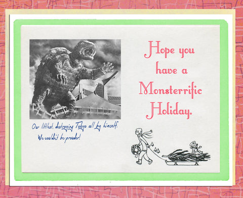 Vintage Holiday Cards: Monsterrific Holiday Cards