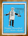 Robo Rabbi Hanukkah Card