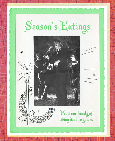 Vintage Holiday Cards: Season's Eatings
