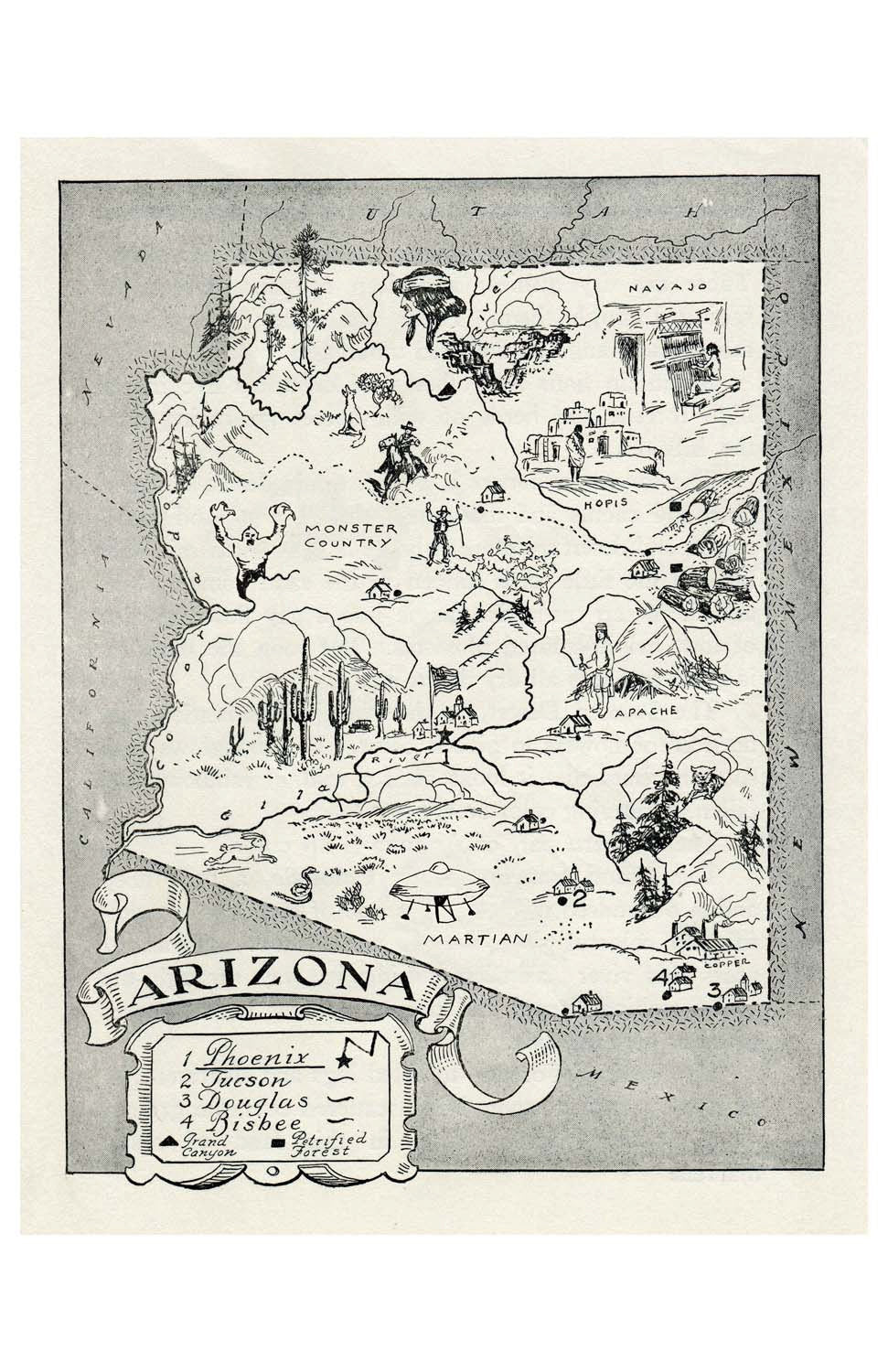 A Map Of Arizona State.Arizona State Map