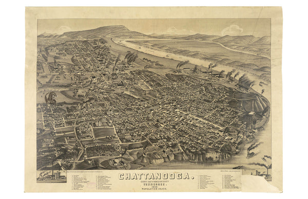 Map of Chattanooga, 1886