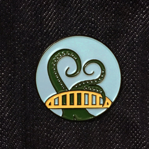 Bridge Tentacle Enamel Pin