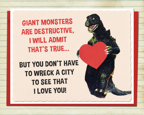 Schoolkids Valentine Monster Card