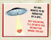 School Kids Valentine UFO Card