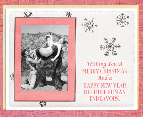 Vintage Holiday Cards: Futile Human Endeavors