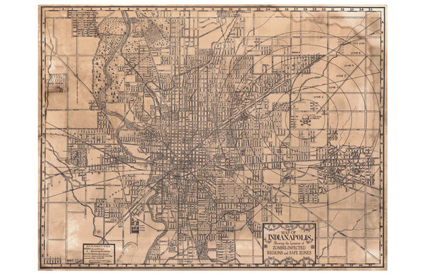 Map of Indianapolis, 1899
