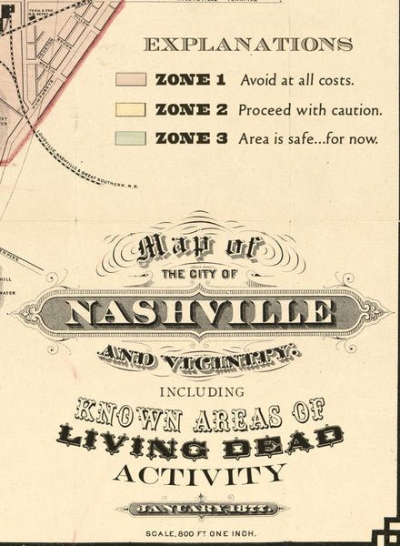Nashville Map of Zombies