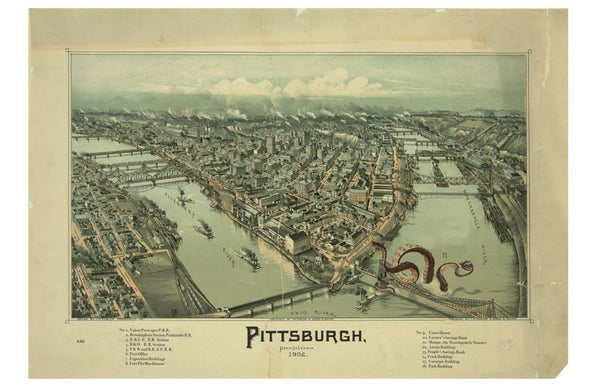 View of Pittsburgh circa 1902