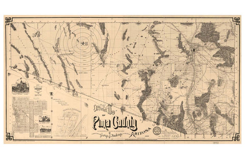 Map of Pima County, 1893