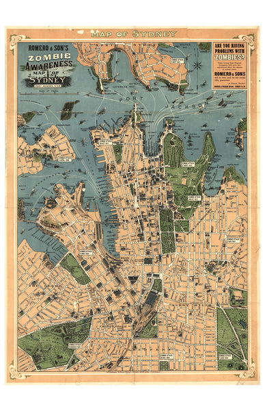 Sydney Map of the Living Dead