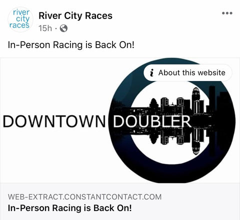 Downtown Doubler Race Logo and Announcement