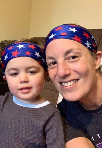 Woman and son in Bamboo Sweatbands