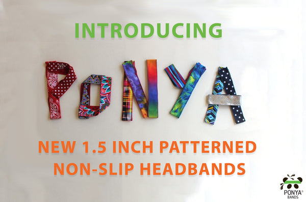 Introducing a new width for our patterned non-slip headbands!