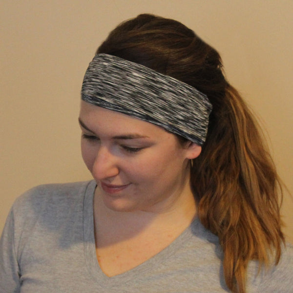 Black Heather Sweatband - Ponya Bands