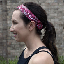 Load image into Gallery viewer, Maroon Meadow Non-Slip Headband - Ponya Bands