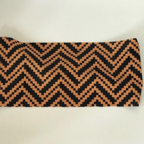 Orange Black Pixelated Wave Unlined Band - Ponya Bands