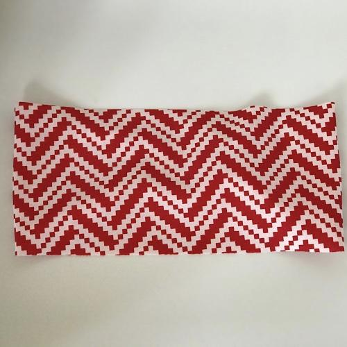 Red White Pixelated Wave Unlined Band - Ponya Bands