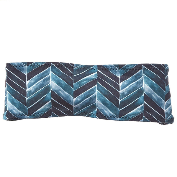 Teal Chevron Sweatband - Ponya Bands